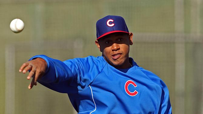 MLB: Chicago Cubs-Pitchers & Catchers
