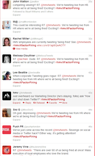 HMV: Companies Don't Tweet, People Do! image hmvtweets