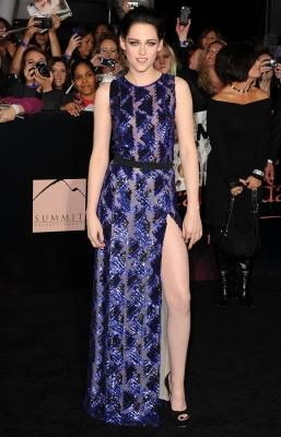 Kristen Stewart arrives at the Los Angeles Premiere 'The Twilight Saga: Breaking Dawn - Part 1' at Nokia Theatre L.A. Live in Los Angeles on November 14, 2011 -- Getty Premium