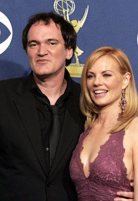 Presenters Quentin Tarantino and Marg Helgenberger 57th Annual Emmy Awards Press Room - 9/18/2005