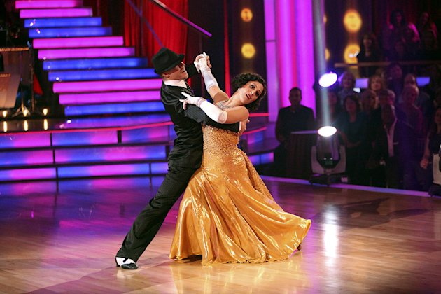 "Derek Hough and Ricki Lake perform on ""Dancing With the Stars."""