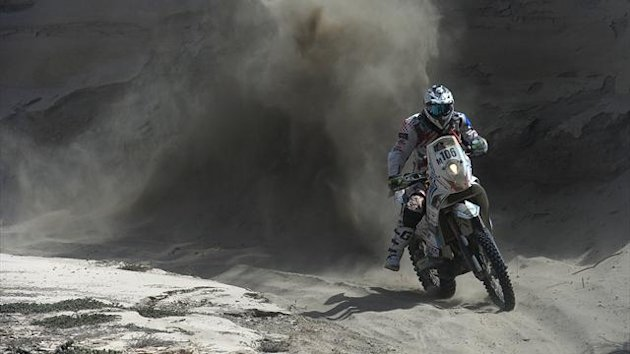 Thomas Bourgin at the Dakar Rally