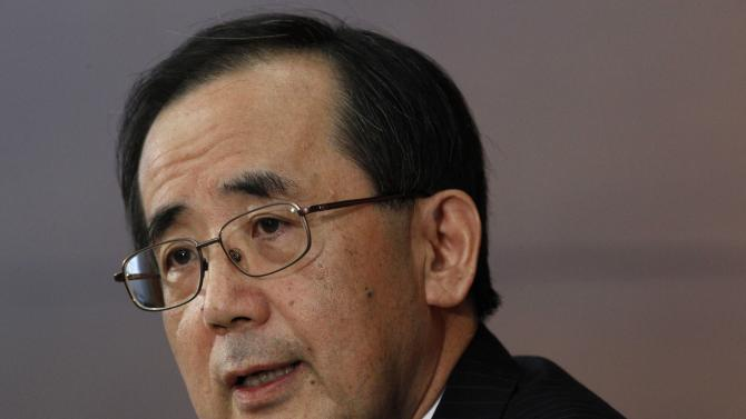 Bank of Japan Governor Masaaki Shirakawa speaks during a news conference in Tokyo