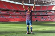 Messi waxwork unveiled at Wembley