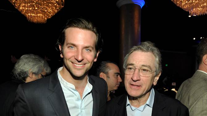 """Bradley Cooper, nominated for best actor in a leading role, left, and Robert De Niro, nominated for best actor in a supporting role, for """"Silver Linings Playbook,"""" attend the 85th Academy Awards Nominees Luncheon at the Beverly Hilton Hotel on Monday, Feb. 4, 2013, in Beverly Hills, Calif. (Photo by John Shearer/Invision/AP)"""