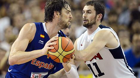 Pau Gasol and Kevin Love