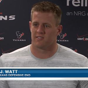 Houston Texans defensive end J.J. Watt: Training camp means time to improve