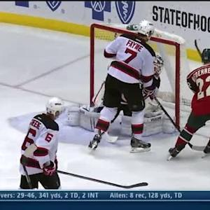 Dany Heatley scores on redirection