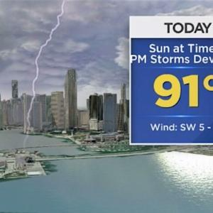CBSMiami.com Weather 9/18/2014 Thursday 1PM
