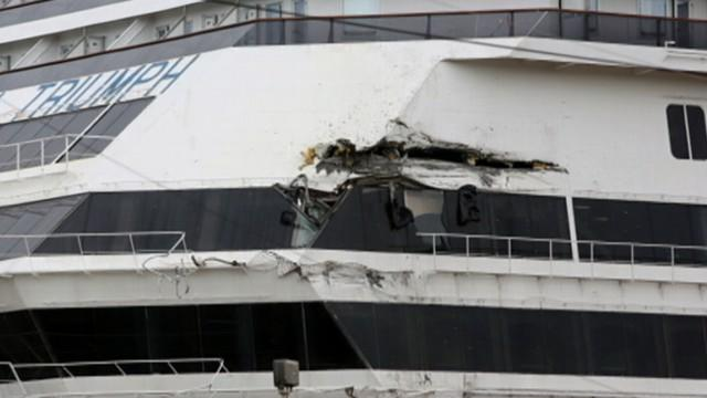 Cruise Ship Triumph Breaks Loose From Dock
