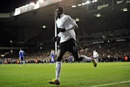 Tottenham Hotspur's Emmanuel Adebayor during a Premier League match in December 2011. Adebayor, the former Arsenal forward, is likely to receive abuse from Arsenal supporters