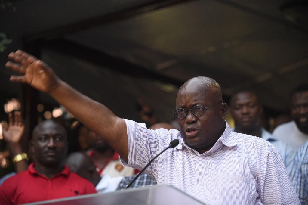 Ghana opposition celebrates as media projects vote win