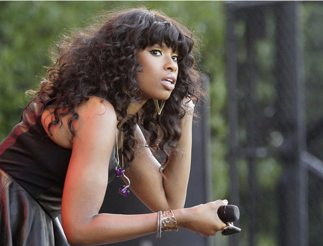 FILE - In this July 11, 2012 photo, singer Jennifer Hudson is seen on stage during her performance at the Taste of Chicago. On Tuesday, July 24, 2012, William Balfour, the man convicted in the slaying