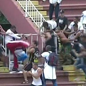 Violent brawl breaks out at Brazil league soccer match