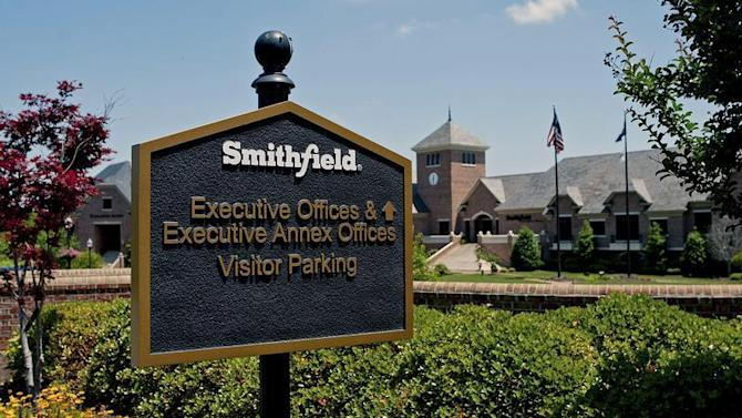 The executive offices of Smithfield Foods are seen in Smithfield, Virginia