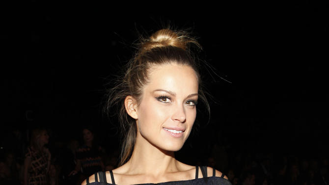 Model Petra Nemcova is seen at the Fall 2013 Badgley Mischka Runway Show on Tuesday, Feb. 12, 2013 in New York. (Photo by Amy Sussman/Invision/AP)