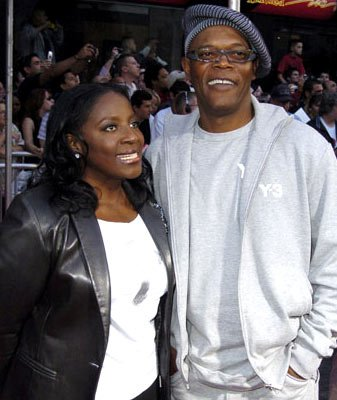 LaTanya Richardson and Samuel L. Jackson at the Hollywood premiere of Disney and Pixar's The Incredibles