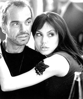 Billy Bob Thornton and Angelina Jolie in Pushing Tin