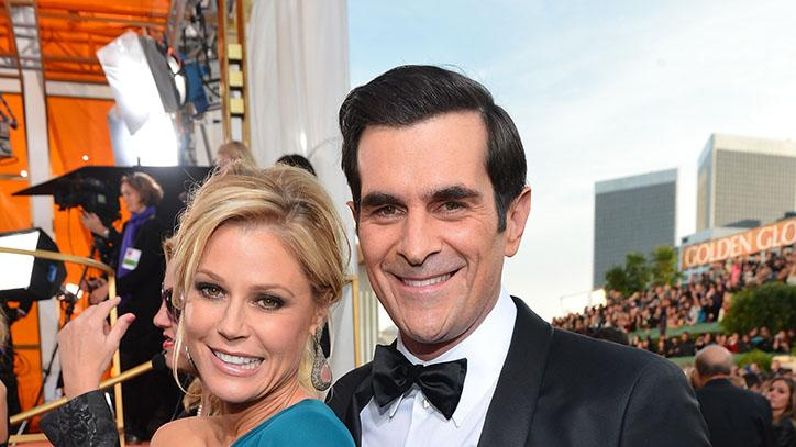 "NBC's ""70th Annual Golden Globe Awards"" - Red Carpet Arrivals: Julie Bowen and Ty Burrell"