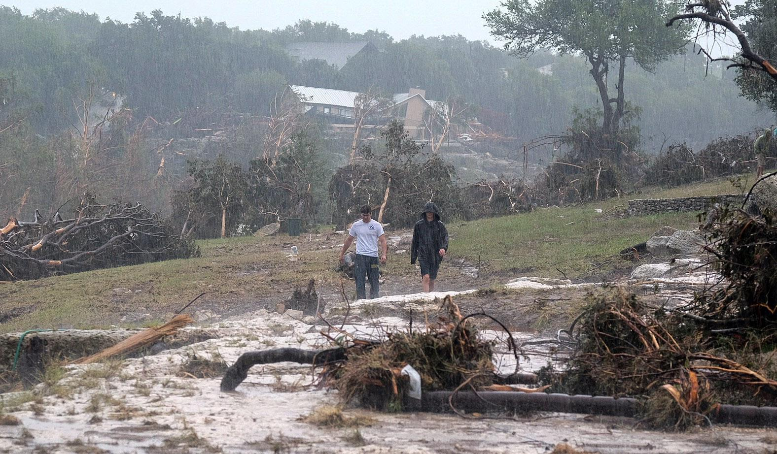 12 missing after flooding in Texas sweeps away vacation home