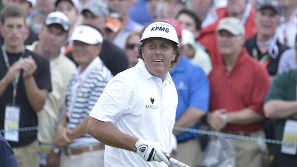 Mickelson leads after third round at US Open