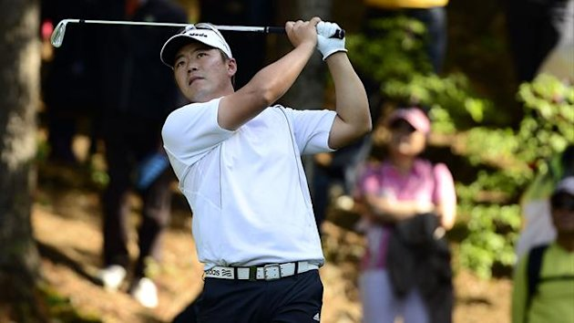 Ryu Hyun-woo of South Korea in action during the third round of the GS Caltex Maekyung Open golf event AFP PHOTO / Paul Lakatos / OneAsia