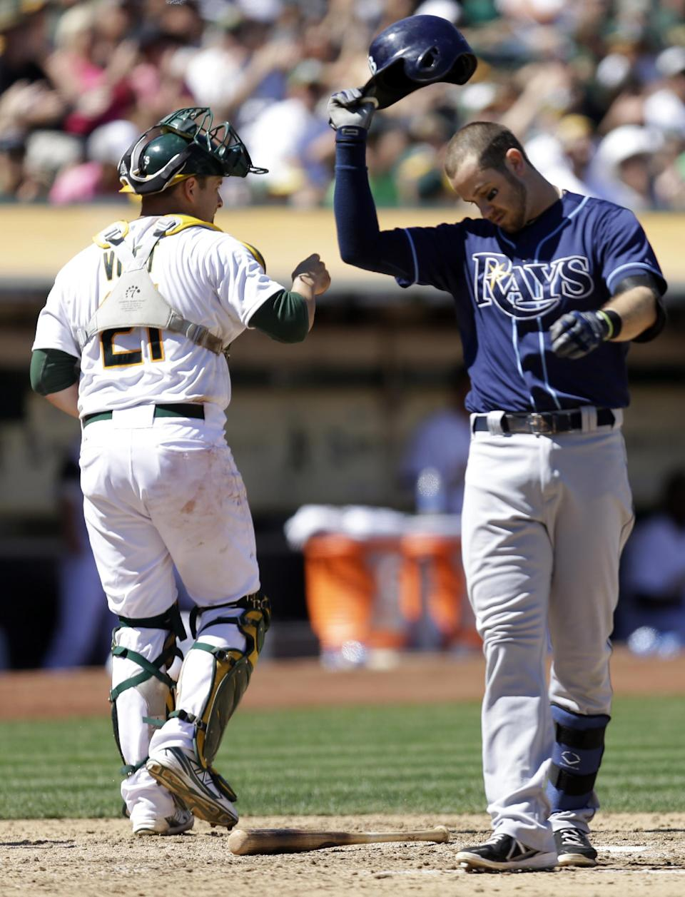 Crisp, Vogt hit homers as Griffin, A's beat Rays