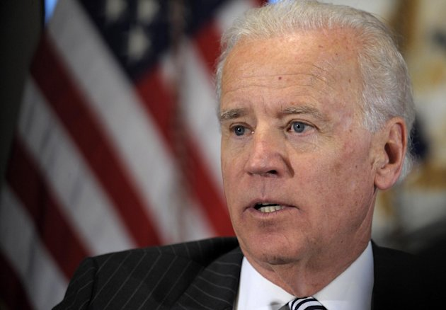 FILE - In this Jan. 11, 2013, file photo, Vice President Joe Biden speaks during a meeting with representatives from the video game industry in the Eisenhower Executive Office Building on the White House complex in Washington. As Biden finalizes a package of recommendations for the president to curb gun violence, the National Rifle Association said there is enough support in Congress to block any new laws that would ban assault weapons. (AP Photo/Susan Walsh, File)