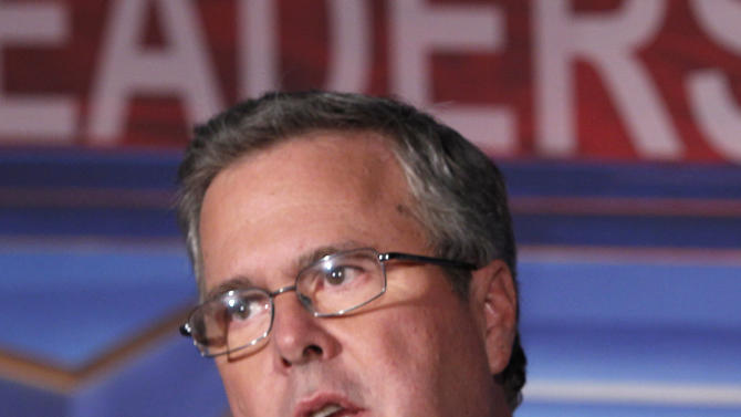 FILE - In this Jan. 26, 2012 file photo, former Florida Gov. Jeb Bush speaks in Miami. Bush is endorsing Mitt Romney to become the Republican Party's presidential nominee.  (AP Photo/Wilfredo Lee, File)