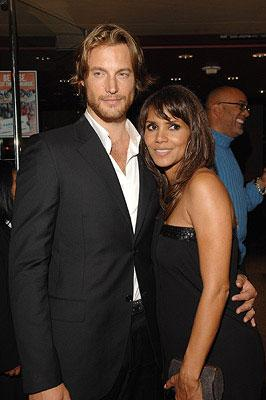 Halle Berry and Gabriel Aubry at the Los Angeles premiere of DreamWorks Pictures' Things We Lost in the Fire