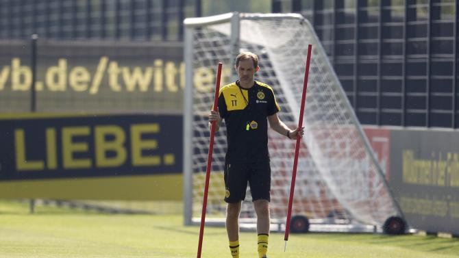 Borussia Dortmund's new coach Tuchel prepares the first training session for the new soccer season in Dortmund