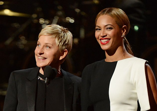 The 55th Annual GRAMMY Awards - Show: Ellen DeGeneres and Beyonce