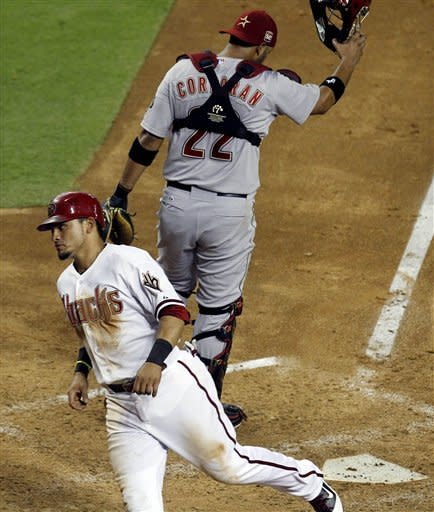 D-backs' Drew has 3 RBIs 1 year after bad injury