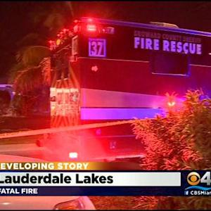 Fatal Fire In Lauderdale Lakes