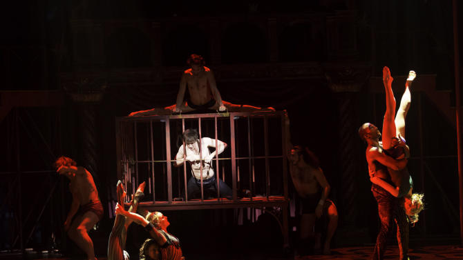 "This undated publicity photo provided by American Repertory Theater shows ""The Flesh"" scene in a production of ""Pippin,"" at the American Repertory Theater in Cambridge, Mass. (AP Photo/ American Repertory Theater, Michael J. Lutch)"