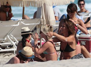 Back To Reality: Nina Dobrev & Julianne Hough Spotted Looking Glum Following Beach Fest In LA