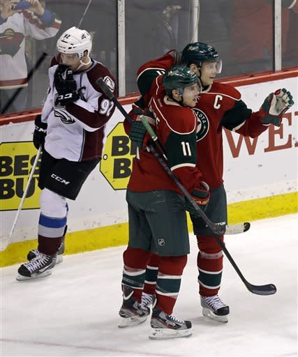 Wild get 3 goals in 2nd period, beat Avalanche 5-3