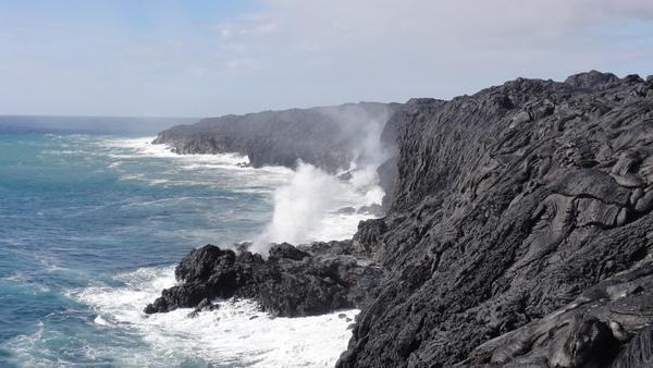Shake and Pour: Hawaii Lava Spills into Ocean