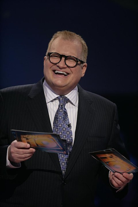 Comedian Drew Carey hosts the new game show Power of 10. Drew Carey 