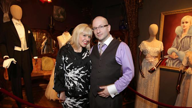 Costume Designer and Academy Award Winner Catherine Martin and Gallery Director Thomas Negovan at the Celebration of Catherine Martin & The Great Gatsby, on Monday, April, 22nd, 2013 in Culver City, Calif. (Photo by Eric Charbonneau/Invision for Warner Bros./AP Images)