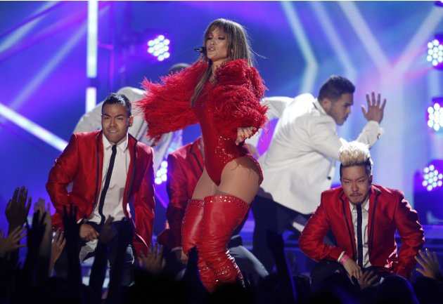 Jennifer Lopez performs during the Billboard Music Awards at the MGM Grand Garden Arena in Las Vegas