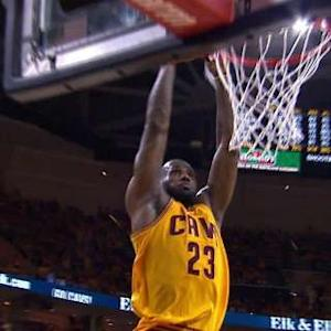 LeBron Steal And Slam
