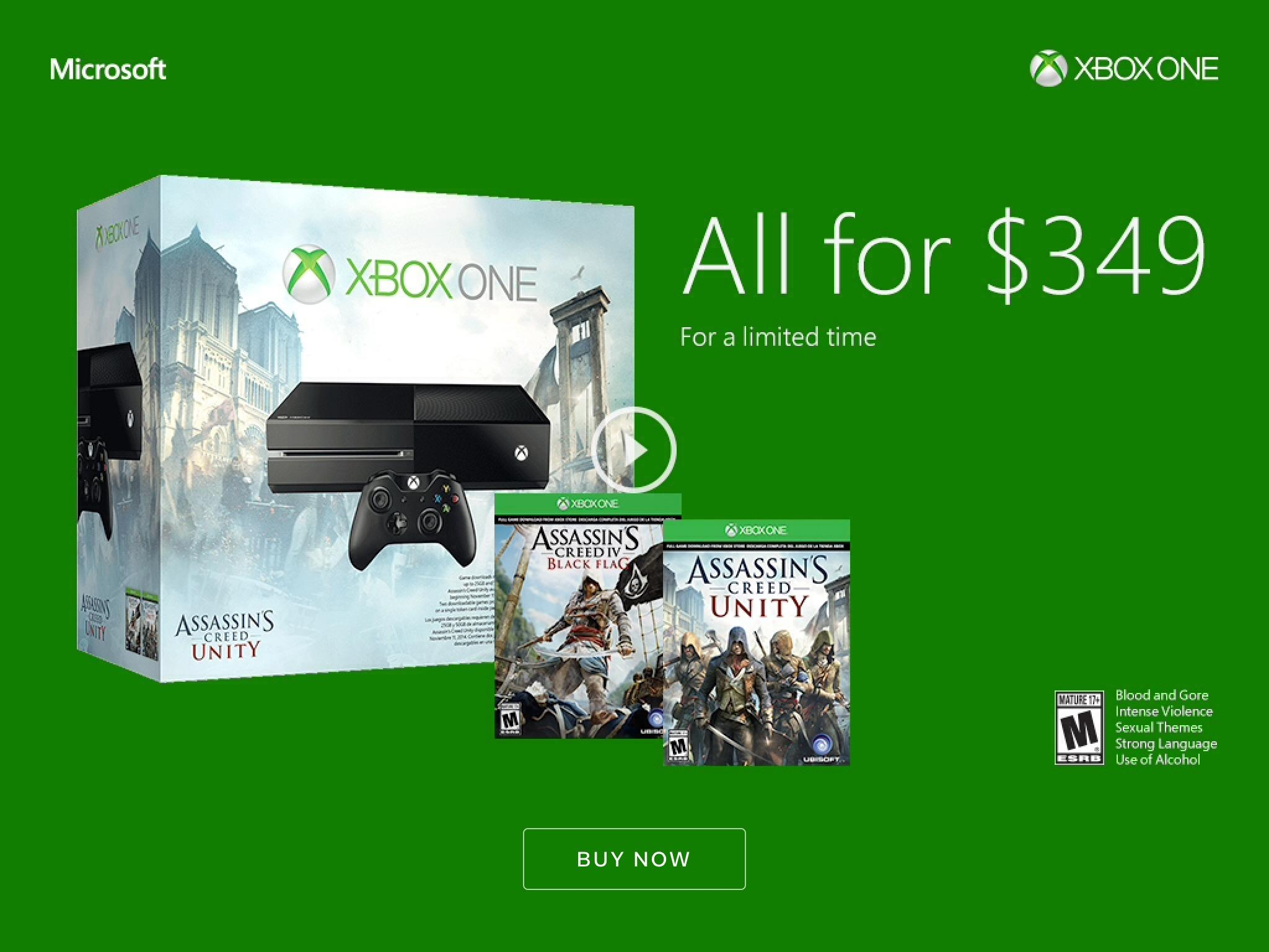 Microsoft's Xbox One Holiday Sales Pass Sony's PS4