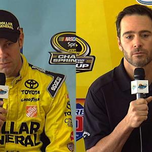 Johnson and Kenseth size each other up