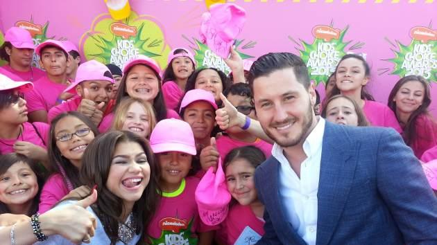 Zendaya and Val Chmerkovskiy at the Kids' Choice Awards -- Zendaya