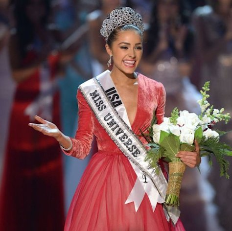 Miss USA, Olivia Culpo walks on stage after being named Miss Universe 2012 at Planet Hollywood in Las Vegas, Nevada on December 19, 2012. Eighty-nine countries and territories took part in in this year's pageant