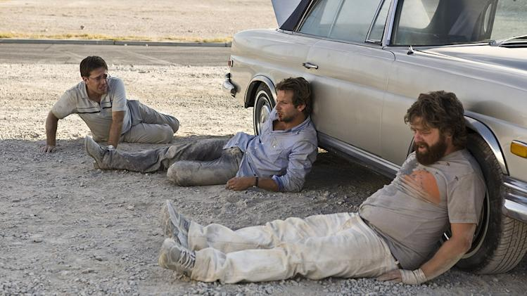 The Hangover Warner Brothers Production Photos 2009 Ed Helms Bradley Cooper Zach Galifianakis