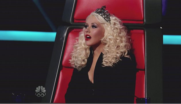 Christina Aguilera NBC's 'The Voice' Season 2, Episode 18 Semi-Final Performances:  The 8 remaining semi-finalists compete for a spot in the final four; Blake Shelton performs his new single 'Over' US
