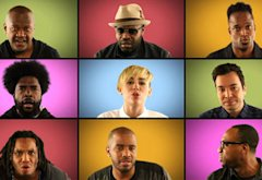 Miley Cyrus, The Roots, Jimmy Fallon | Photo Credits: NBC