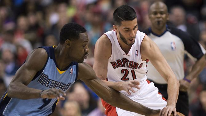 Valanciunas scores 23, Raptors beat Grizz 99-86